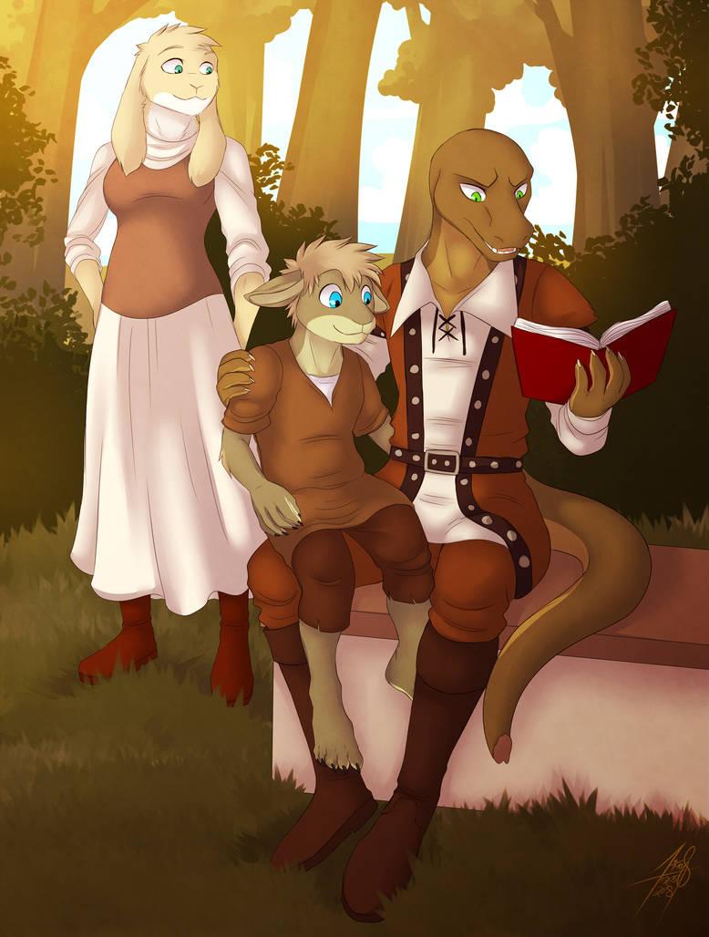 A happy family by dracenmarx