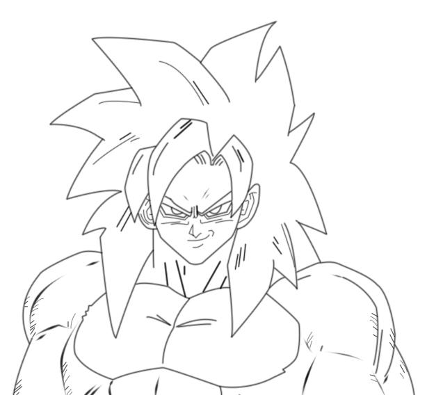 Goku super sayayin 4 dibujos - Imagui