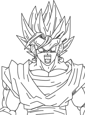 Vegito Lineart By Zignoth On Deviantart
