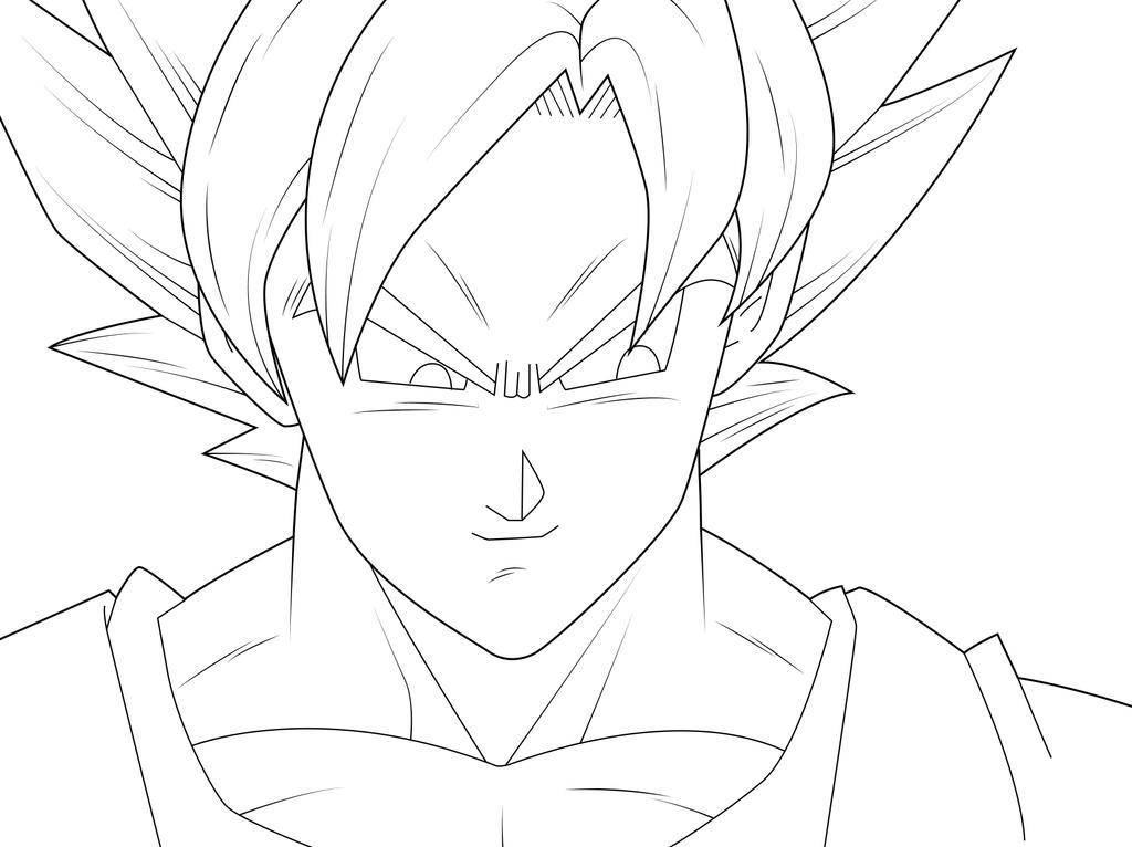Goku Super Saiyan Lineart by zignoth on DeviantArt
