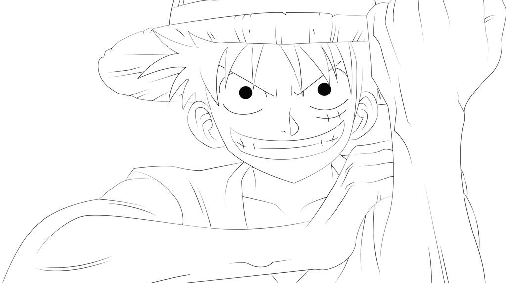 Luffy Lineart : Monkey d luffy line art by zignoth on deviantart