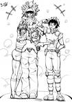 Family Bonds -LineArt- by TurboK1000