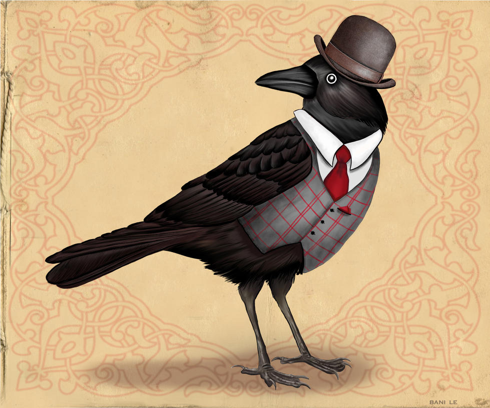 Well Dressed Crow by LunaLoveBunny