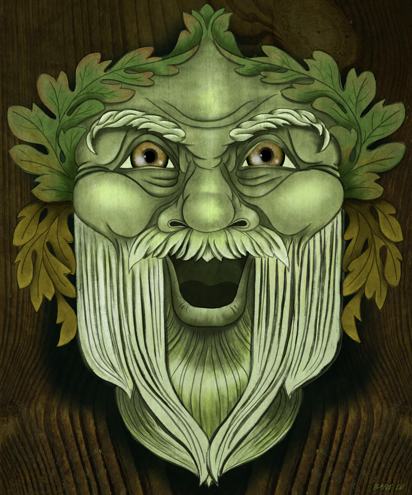Oak King Green Man by LunaLoveBunny