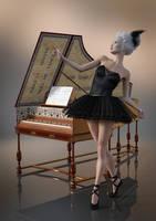 Harpsichord by Gluck4012
