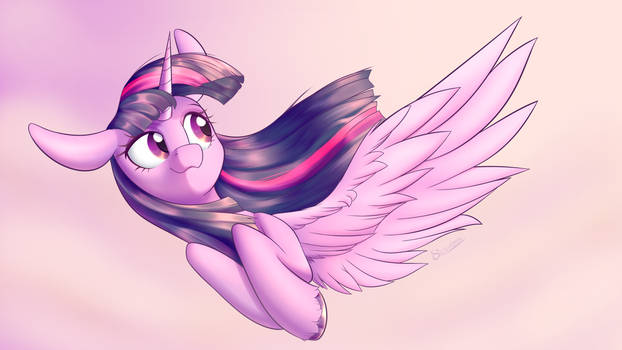 She soars by