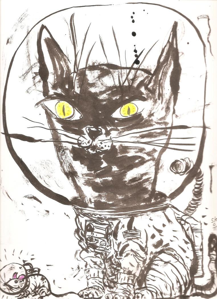 Catstronaut by KRAKABOOM