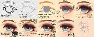 How I Color Eyes Tutorial