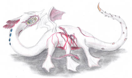 Dragon giving birth by ZaubererbruderASP