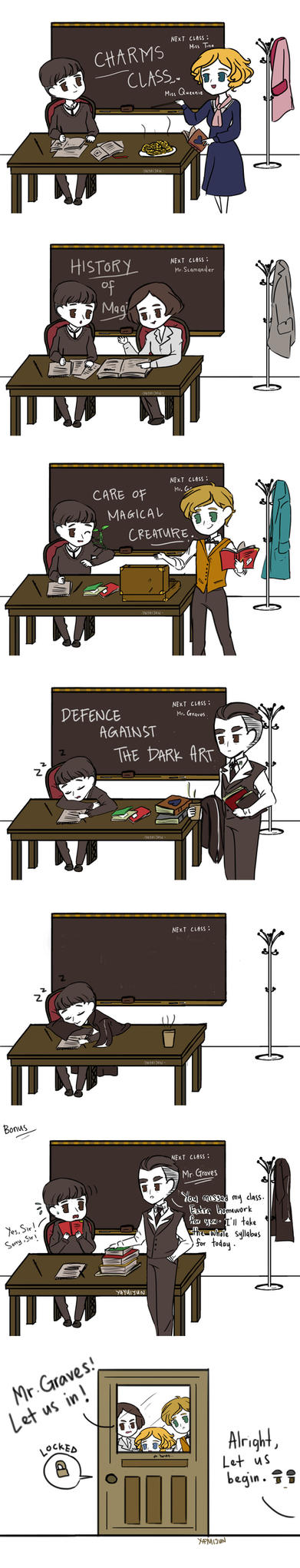 Class in session ! FANTASTIC BEASTS by Yayuijun