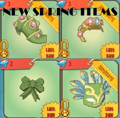Animal Jam Spring Items! (1) by Mousegirlabc
