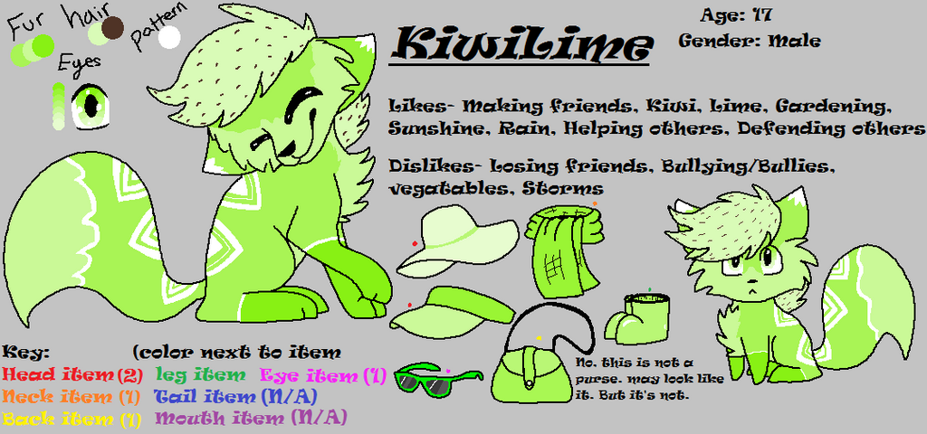 Animal Jam|KiwiLime (Aj themed OC) by Mousegirlabc
