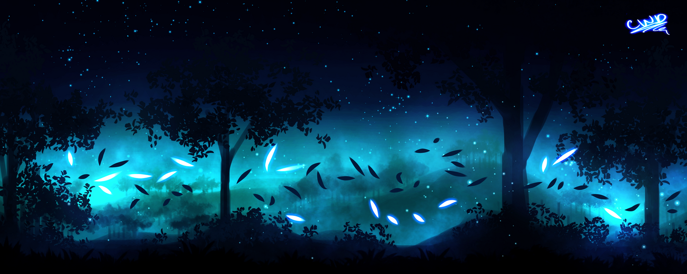 The Edge Of Night - Finger Painting 3 by ChickWithDreads