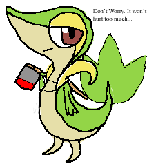 Request:: Snivy With Axe by PoeticManiac