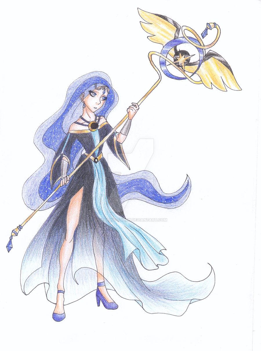 Princess Luna Humanized -pencils- by Healing-Touch