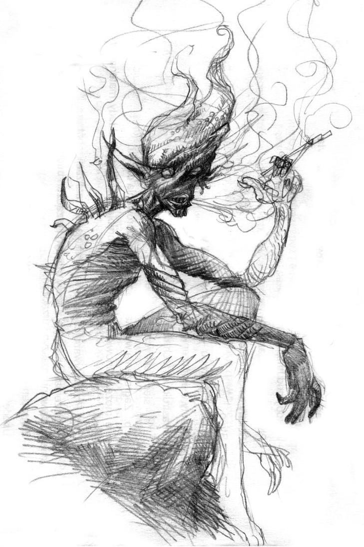 'Smokey' faerie by MouseCityKola