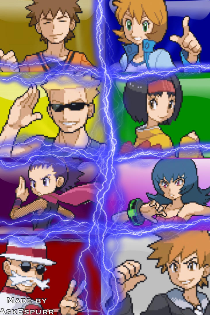 Pokemon Kanto Gym Leaders Iphone Wallpaper By Askespurr