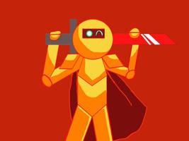 GildedGuy the Golden Animator by AquaBoost