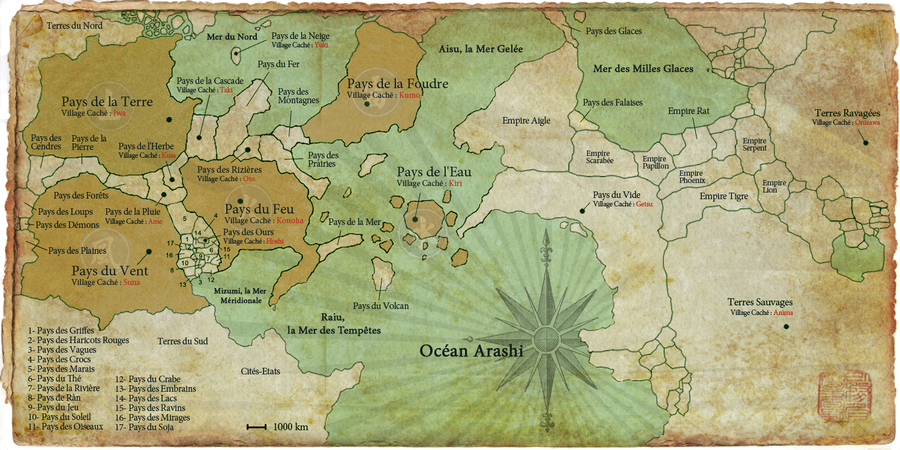 Naruto World Map (extended) By Xpierrex ...