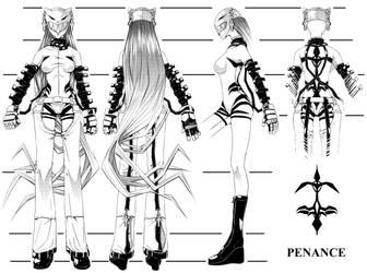 Penance Model Sheet by ComiPa