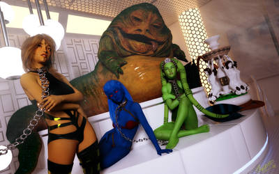 sexy slaves for the hutt