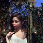Butterfly Flower for Genesis 8 Female