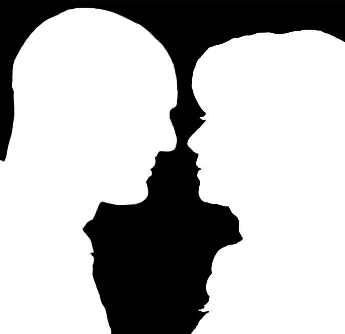 Helen and John Silhouett by Emengeecupcake