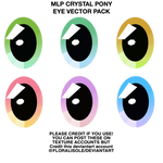 MLP EYE - Crystal Pony Eye Vector Pack