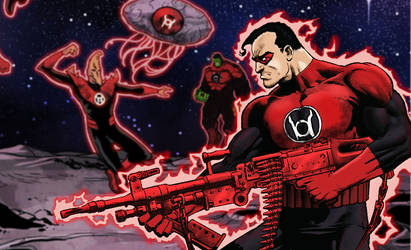 Red Lantern Punisher by NICHOLASFRIES