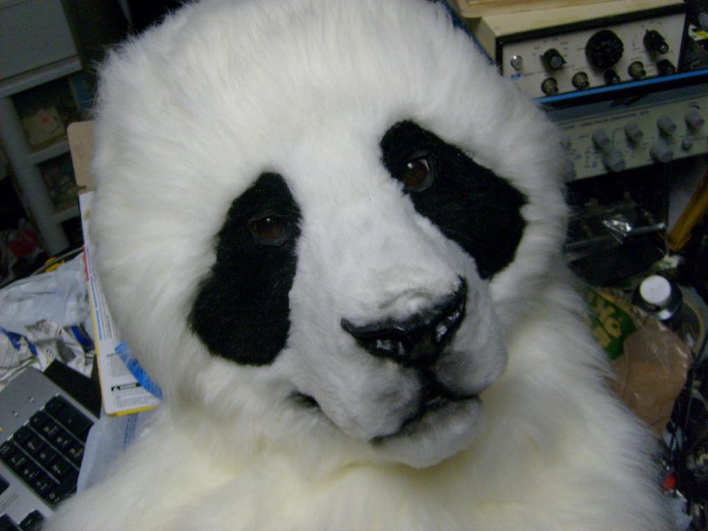 Fursuit Panda wastelander panda head (in process)thundolis on deviantart