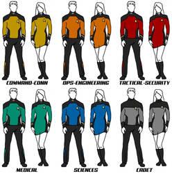 Class B Uniforms Star Trek: The New Voyages RPG by ZenithComics