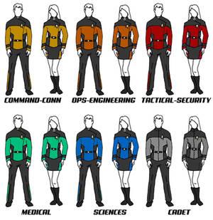 Class A Uniforms Star Trek: The New Voyages RPG