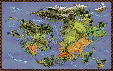 The World of Aeran - Revised Map by ZenithComics