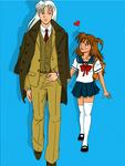 Sesshomaru and Rin by tsundoko