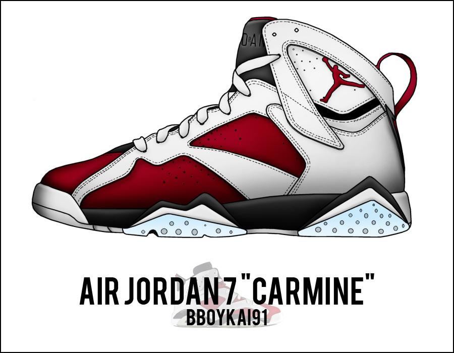 low cost 5191e 5ffc3 air jordan 7 carmine