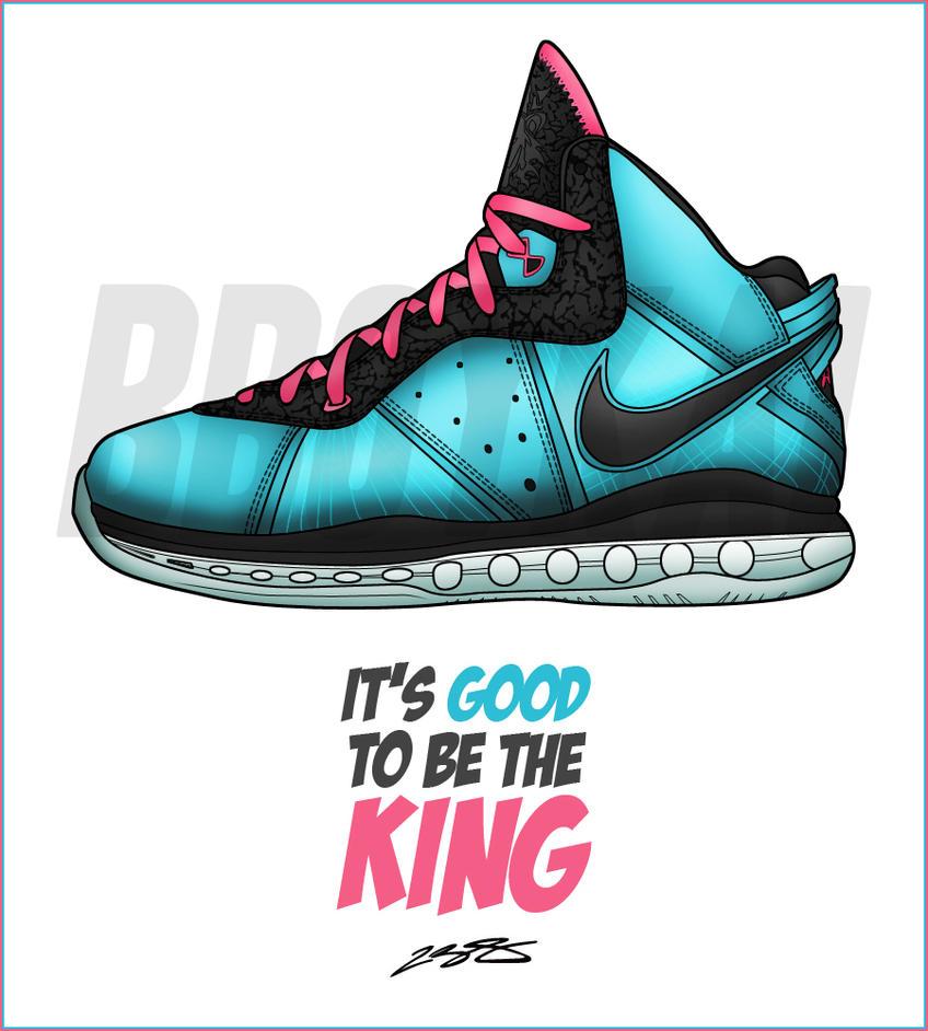 """Nike Lebron 8 """"Preheat"""" by BBoyKai91"""