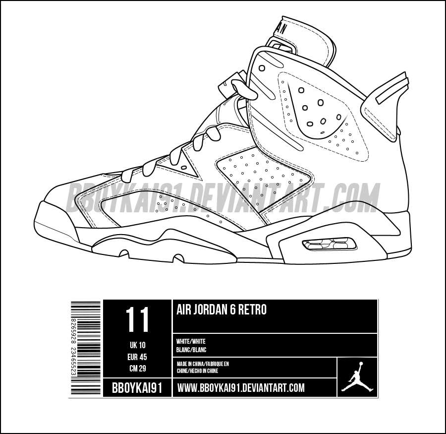 b1934e02f3a Air Jordan 6 Template by BBoyKai91 on DeviantArt