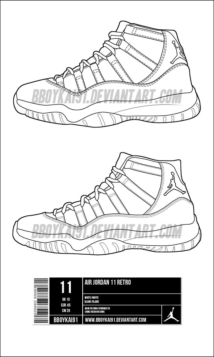 Jordan Retro 11 Drawings Air Jordan 11 Drawing