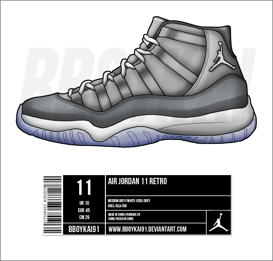 ... air jordan 11 cool grey by bboykai91 ...
