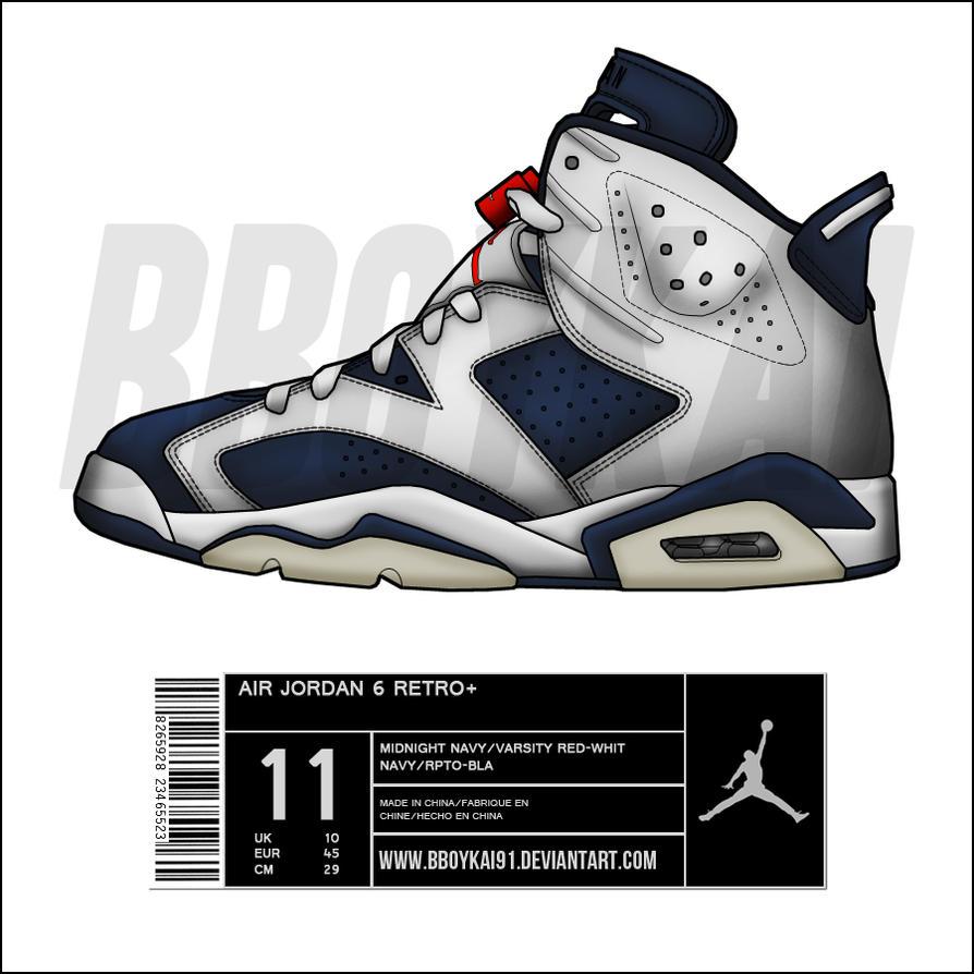 Air Jordan Shoe Drawings