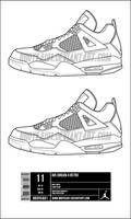 Air Jordan 4 Template