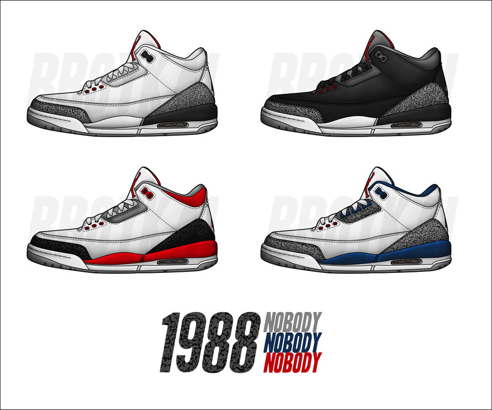 Air Jordan 3 Nike Vecteur Logo