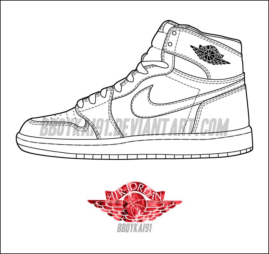 hot sale online a8f6f 04abc Air Jordan 1 OG Template by BBoyKai91 ...