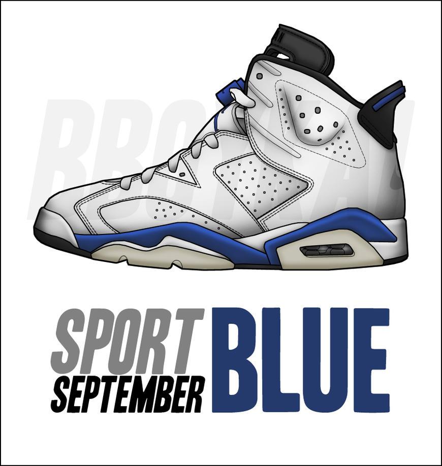 air jordan 6 sport blue 1991 mustang