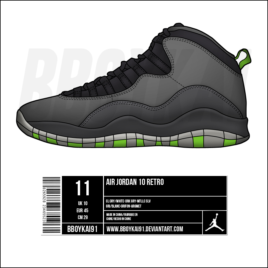 ... Air Jordan 10 U0027Cool Greyu0027 By BBoyKai91