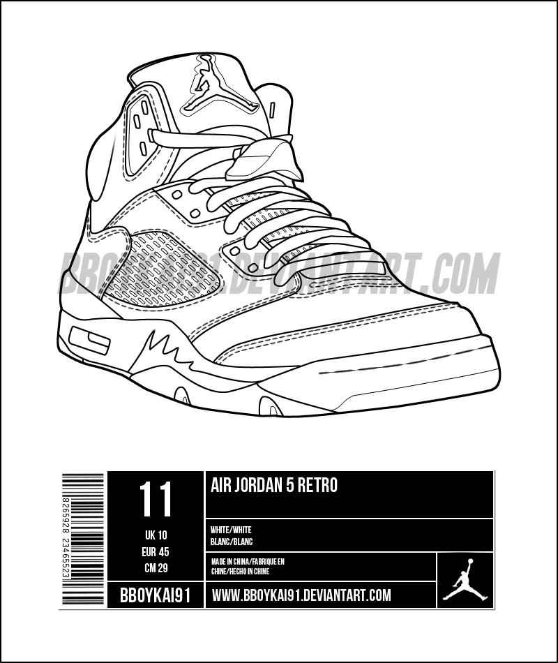 online store e21cd 27f34 Air Jordan 5 Template alt by BBoyKai91 ...