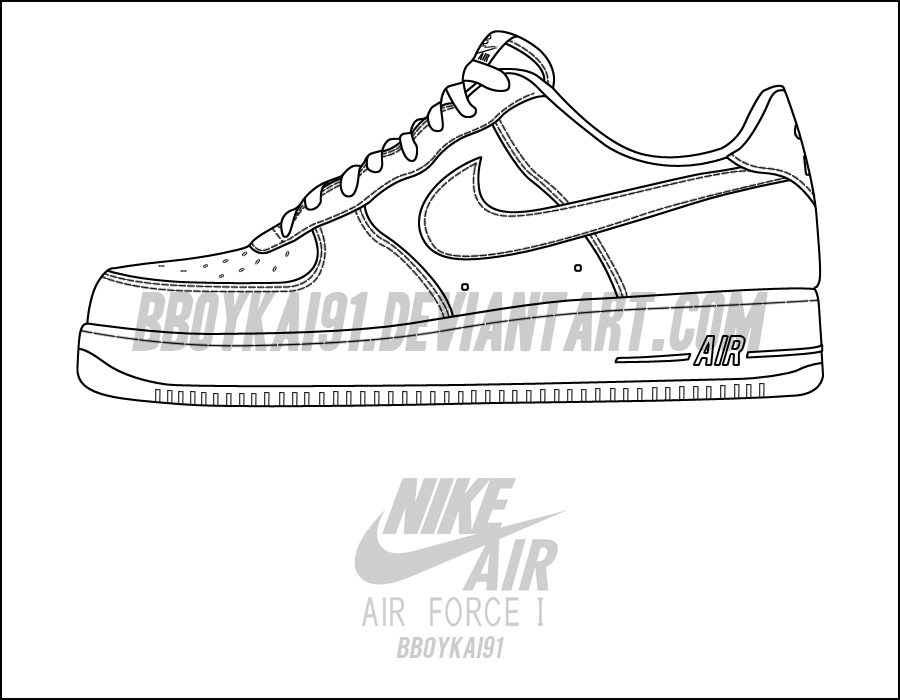detailed look 00905 27480 Nike Air Force 1 Low Template by BBoyKai91 ...