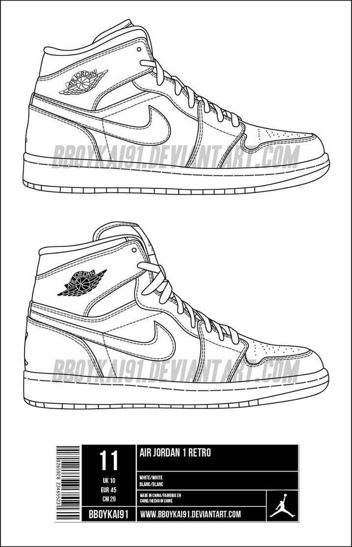 Air Jordan 1 Modèle De Stencil