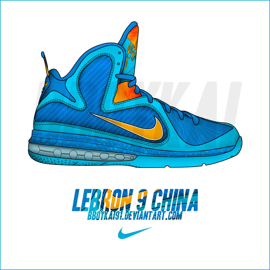 "Nike Lebron 9 ""China"" by BBoyKai91"
