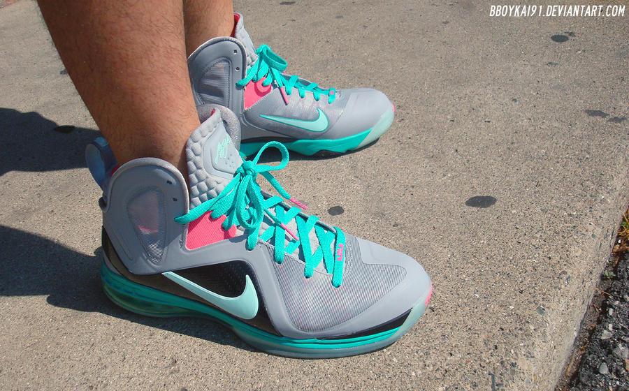 cheaper 26860 50cdd ... wdywt lebron 9 elite miami vice 3 by bboykai91  nike .